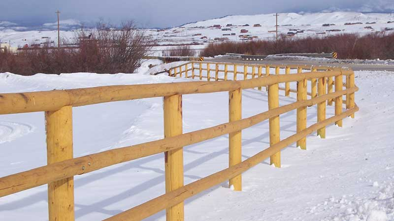 Post And Pole Fencing : Pickaroon timber products