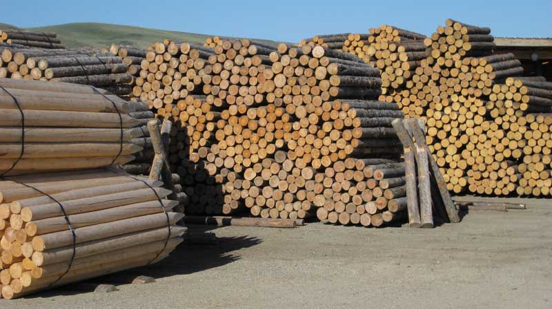 Fence supplies wood